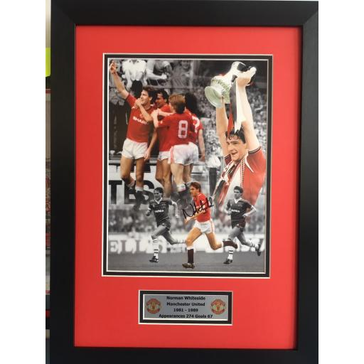 Norman Whiteside Manchester United Signed Framed Photo Display