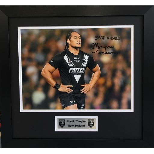 Martin Taupau NZ Rugby League photo display