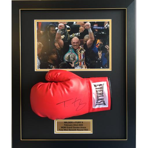 Tyson Fury Signed Framed Boxing Glove Display