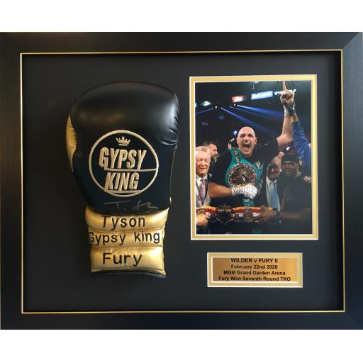 Tyson Fury Signed Framed Boxing Glove Domed Display