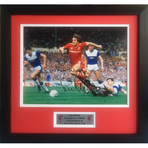 Jan Molby Liverpool FC signed framed photo display