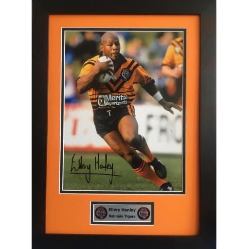 Ellery Hanley Balmain Tigers signed photo display