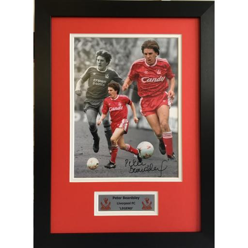 Peter Beardsley Signed Photo Liverpool FC
