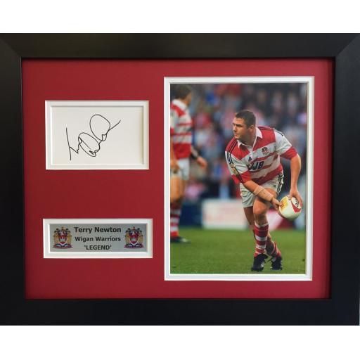 Terry Newton Signed Wigan Warriors Display