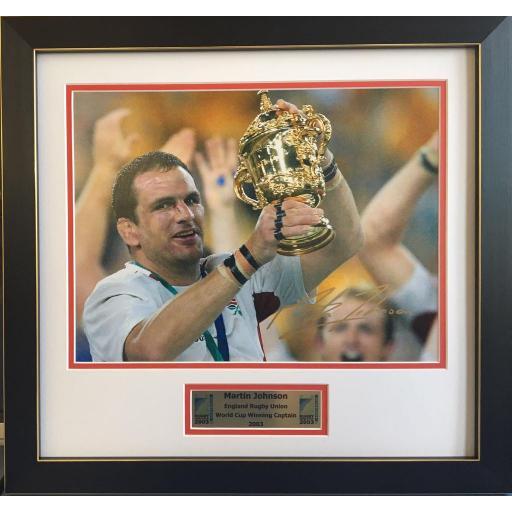 Martin Johnson Signed Framed England 2003 Photo Display