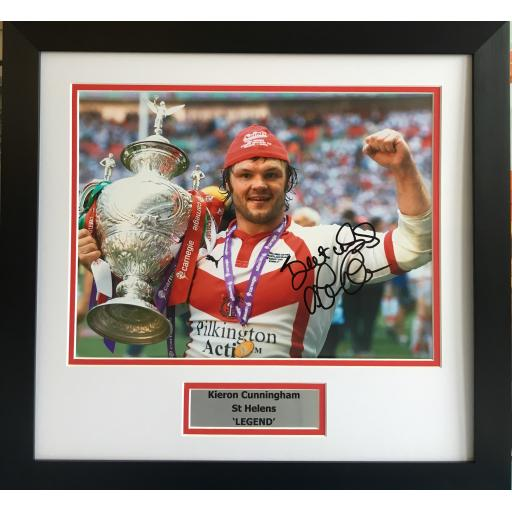 Keiron Cunningham Signed St Helens Photo Display