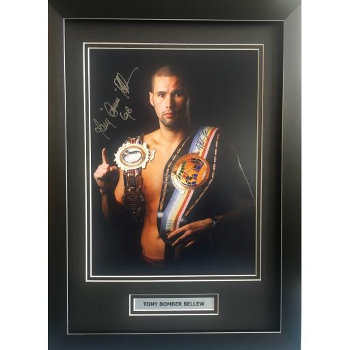 Tony Bellew Signed Framed Photo Display