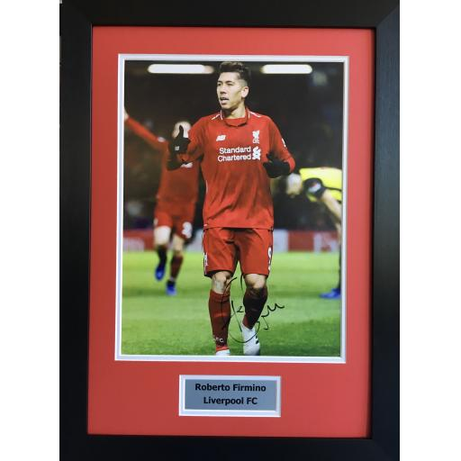 Roberto Firmino Signed Liverpool Display