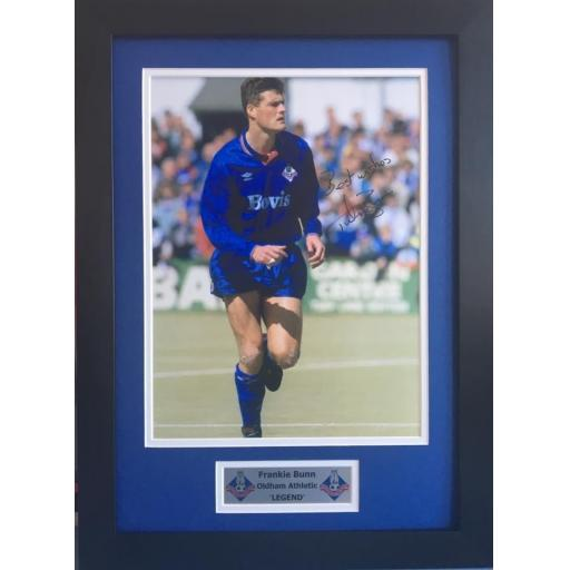 Frankie Bunn Oldham Athletic Signed Photo Display