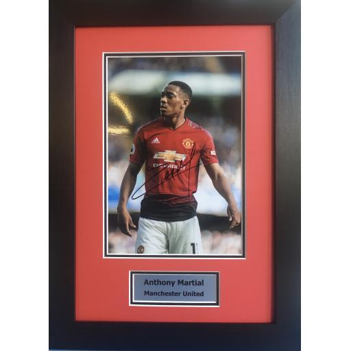 Anthony Martial Manchester United Signed Photo Display