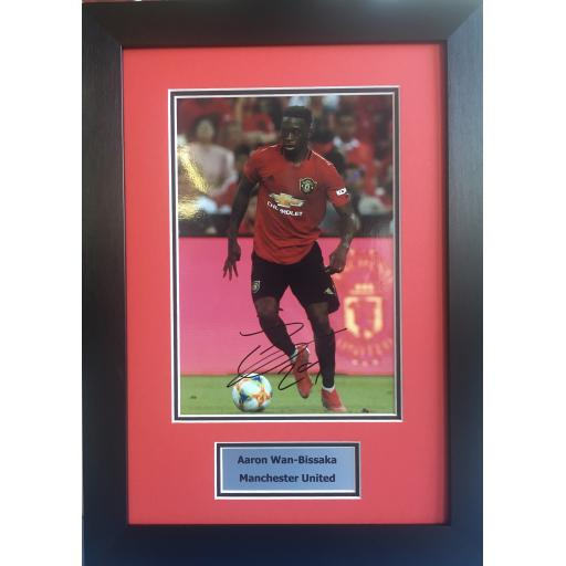 Aaron Wan-Bissaka Manchester United Signed Photo Display